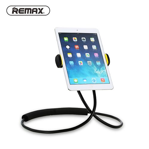 Remax Lazy Bracket Rotation Flexible Phone Holder 360 Degree Neck Hanging With Shcokproof Bubble For iPhone tablet smartphone