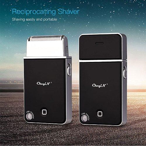 USB Rechargeable Electric Shaver Razor Men Reciprocating Single Blade Cordless Beard Trimmer Barber Shaving Machine