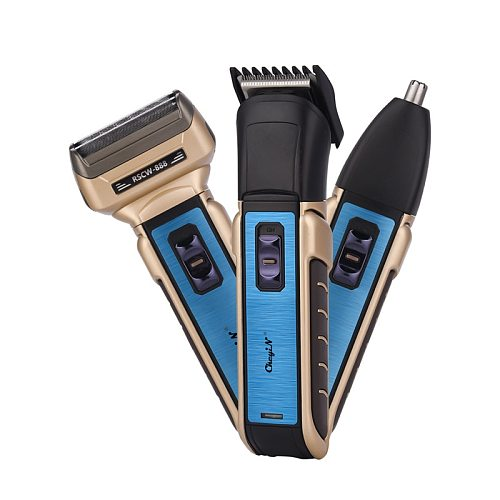 Professional 3 in 1 Electric Electric Hair Clipper Nose Trimmer Men Rechargeable Shaver Razor Beard Trimmer Hair Cutting Machine