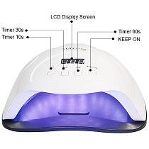 84W LED Nail Lamp Nail Dryer Dual hands 45 PCS LED UV Lamp For Curing UV Gel Nail Polish With Motion Sensing Manicure Salon Tool