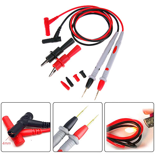 20A 1000V Probe Test Leads Pin for Digital Multimeter Needle Tip Multi Meter Tester Lead Probe Wire Pen Cable