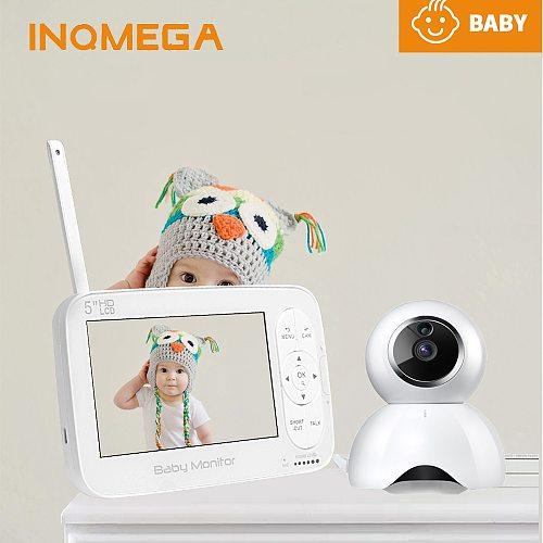 720P Wireless Baby Monitor PTZ 360 Degree 5 Inch LCD Baby Camera Night Vision Babysitter Nanny Video Security Camera
