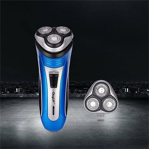 USB Rechargeable Electric shaver 3D Triple Floating Blade Shaving Men Razor Beard Trimmer face shaver care with extra blade