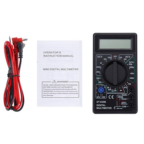 2 Color LCD Digital Multimeter AC/DC 750/1000V Digital Mini Multimeter probe For Voltmeter Ammeter Ohm Tester Meter