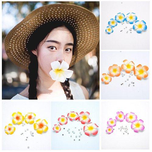 20Pcs Plumeria Hawaiian Foam Frangipani Flower Artificial Silk Fake EGG Flower For Wedding Party Decoration
