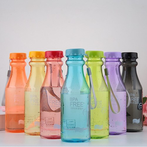 480ML Sports Bottle New Easy To Fall Bicycle Leak-Proof Kettle Sports Travel Camping Fitness Convenient Leak-Proof Kettle