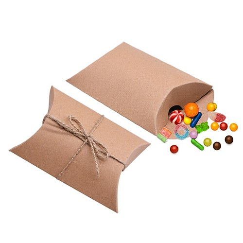 10/20/30/50Pcs Colorful Kraft Paper Candy Box Gift Bag Wedding Gift Baby Shower Favors Birthday Party Gift Packaging Supplies