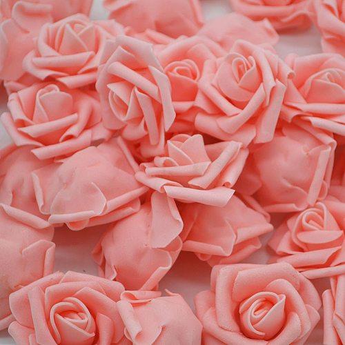Cheap 20pcs Multicolor Foam Rose Flower Head Artificial Rose Bouquet Handmade Wedding Home Decoration Festive Party scrapbook