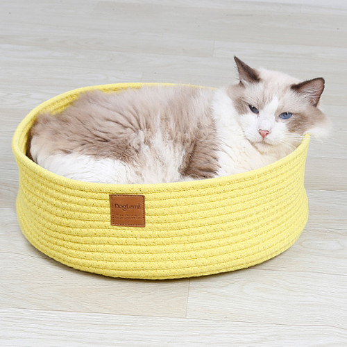Hand-Woven Pet Dog Cat House Knitted Nest Cat Grinding Claws Scratch Board Pets Sleeping Bed Mat Home For Small Cat Dog
