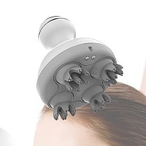 Scalp massage machine Massager for head Timing Control Four Silicone Claws Washing Hair 3d Vibrating massager electric