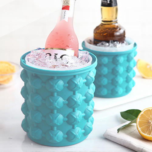 Silicone Ice Bucket Champagne Whisky Beer Ice Cube Maker Portable Bucket Wine Ice Cooler Beer Kitchen Tools Kitchen Accessorie