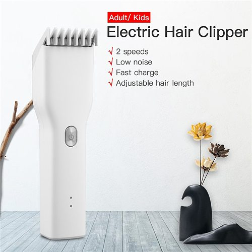 USB Hair Trimmer Rechargeable Beard Trimer Men Hair Clipper Nano Ceramic Blade Cutter Hair Professional Electric Hair Cutting