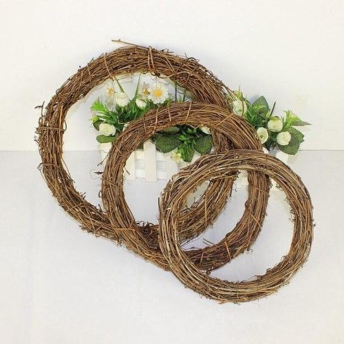 1pcs Christmas Decoration 12-25cm Christmas Party Wedding Wreaths Decoration Garland Material Rattan Wreath DIY Wreath Party