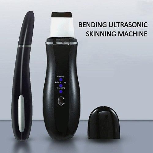 Ultrasonic Skin Scrubber Deep Face Cleaner Acne Blackhead Remover Reduce Wrinkles Spot Beauty Machine Facial Peeling Tool