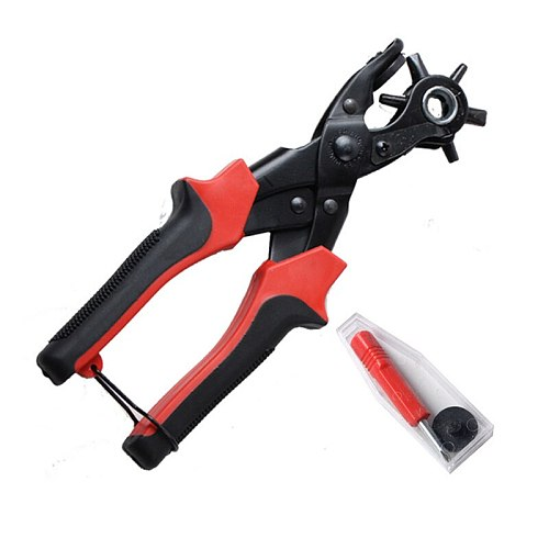 Heavy Duty Leather Plier Eyelet Puncher Belt Hole Sewing Machine Bag Punch Revolve Watchband Household Strap leather Setter Tool