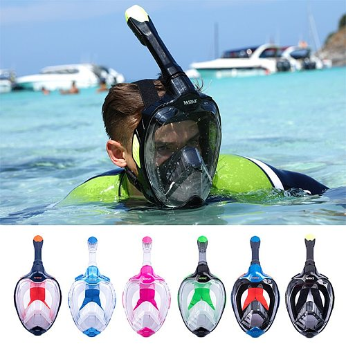 Full Face Scuba Diving Mask for Adult Youth New Anti Fog Goggles With GoPro Mount Underwater Wide View Snorkel Swimming Mask