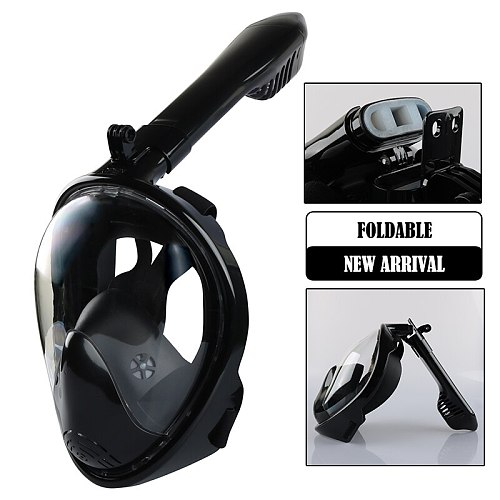 New Adult Foldable Full Face Scuba Diving Mask Anti Fog Goggles Underwater Wide View Snorkel Swimming Mask for Kids