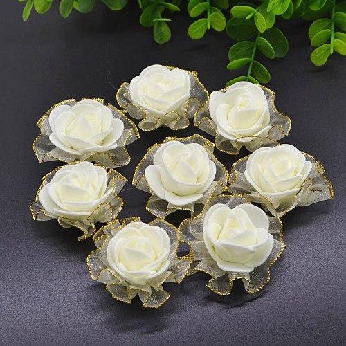 20Pcs 3.5cm PE Foam Rose Flower Head Artificial Rose Flowers Handmade DIY Wedding Home Decoration Festive & Party Supplies