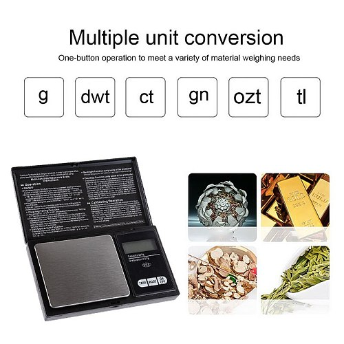 High precision 0.01g Digital kitchen Scale Jewelry Gold Balance Weight Gram LCD Pocket weighting Electronic Scales
