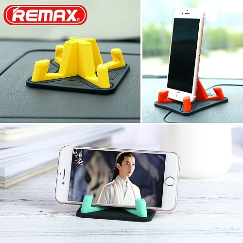 REMAX Pyramid Desk Phone Holder Universal Mobile Phone Holder Stand Soft Silicone Car Phone Holder for Xiaomi iPhone 6 7 X