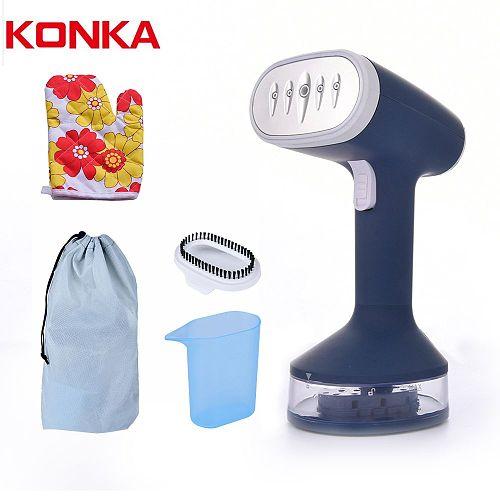 KONKA Handheld Mini Steamer Iron Fast-Heat 1200W Powerful Garment Steamer Portable 140ML Steam Ironing Machine for Home Travel