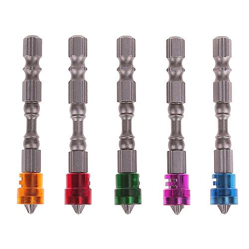5x Single Head Magnetic Screwdriver Bit 65mm 1/4 Anti-Slip Hex PH2 Electric Screw Driver Set for Power Tools