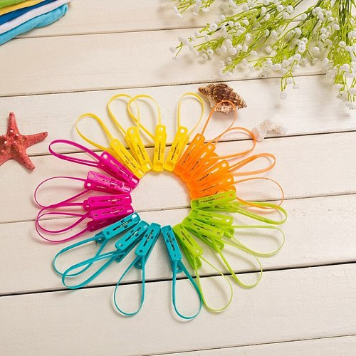 12PCS/Set Clothes Folder Clothespin Hook Sock Clips Cloth Rack Hanger Laundry Clips Bathroom Accessories