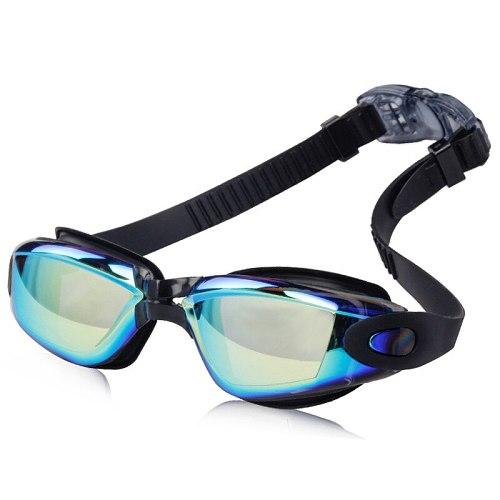 Waterproof Swim Glasses Eyewear Professional Electroplate Brand adult Men Women Anti Fog UV Protection Swimming Goggles