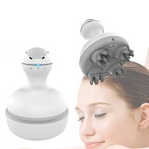 2019 New 3D waterproof Electric Head Massager Wireless Scalp Massage Promote Hair Growth Body deep tissue Kneading Vibrating