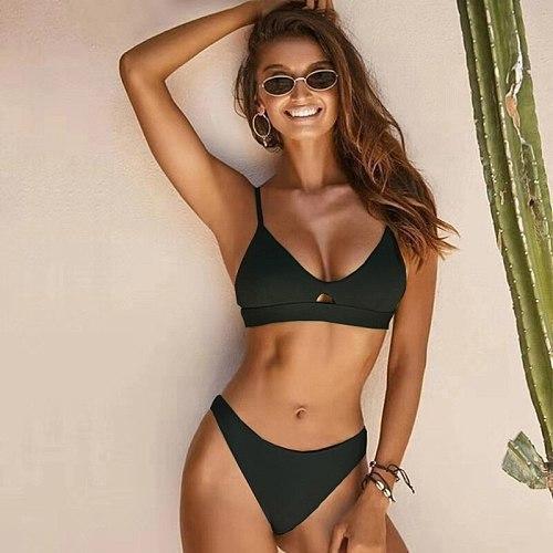 Bikini Push Up 2019 Sexy Women Swimsuit Solid Female Swimwear Thong Brazilian Bikini Set Biquini Beachwear Bathing Suit Women