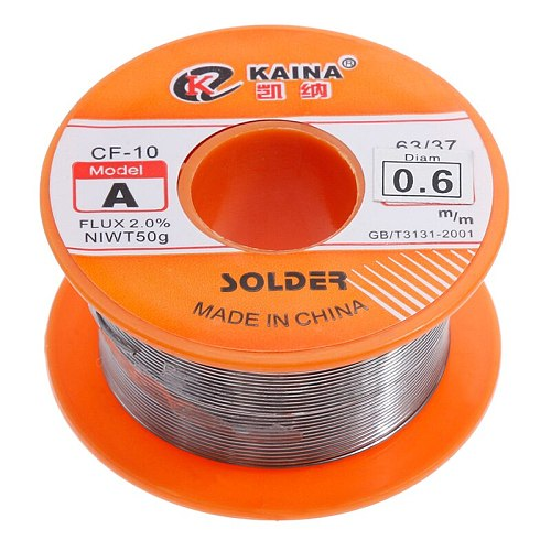 0.6/0.8/1/1.2/1.5MM 63/37 FLUX 2.0% 45FT Tin Lead Tin Wire Melt Rosin Core Solder Soldering Wire Roll