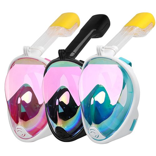 2020 New Plated Diving Mask Scuba Mask Underwater Anti Fog Full Face Snorkeling Mask Women Men Swimming Snorkel Diving Equipment