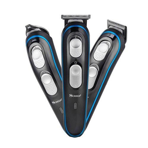 3 In 1 Professional Hair Trimmer Carbon Steel Blade Clipper Shaver Haircut Barber Hair Clipper Rechargeable Hair Cutting Machine