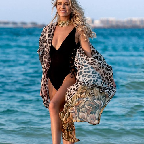 2020 Chiffon Beach Cover Up Kaftan Beach Tunic Dress Bikini Cover Up Women Swimsuit Sarong Pareo Swimwear Beachwear Bathing Suit