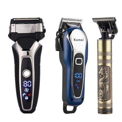 3 in 1 Electric Trimmer Hair Clipper Baldheaded Beard Trimmer Shaver Razor Rechargeable Barber Shaving Machine Hait Cut