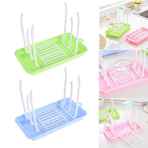 Useful Baby Bottle Dryer Rack simple tree shape Cleaning Drying Rack Shelf Kitchen Feeding Holder Tools