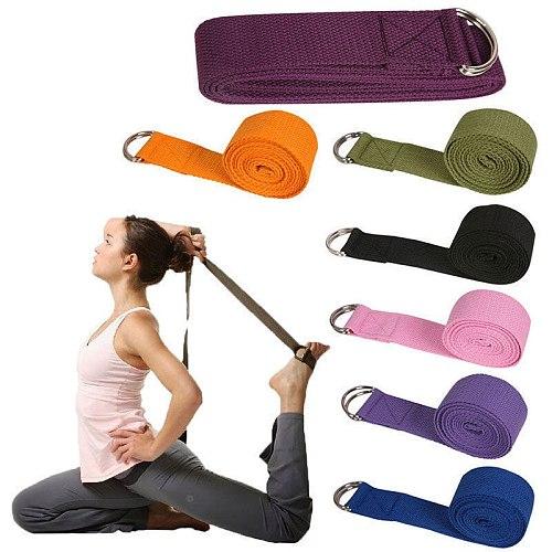 New Sport Yoga Stretch Strap D-Ring Belts Gym Waist Leg Fitness Adjustable Belt