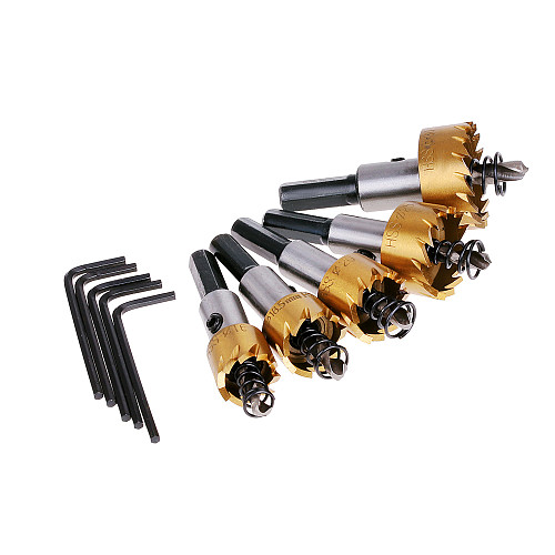 1x Carbide Tip HSS Drill Bit Saw Set Metal Wood Drilling Hole Cut Tool Drill Bits for Installing Lock 16 18.5 20 25 30mm