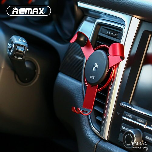 Remax Gravity reaction car phone holder Air Vent Mount Holder Clip Cell Phone Stand for iphone xiaomi redmi GPS huawei auto lock