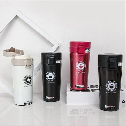380ml Double Stainless Steel Coffee Mug Thermos Portable Vacuum Flask Vacuum Flask Car Hot Water Leisure Hot Tea Cup Travel Mug