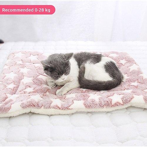 Soft Pet Bed Mat Coral Fleece Foldable Cat Dog Cashmere Warm Sleep Mattress Rest Blanket Winter Pets Dogs Cats Towel Cushion