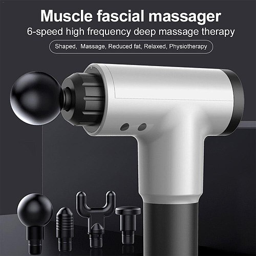 3300r/min Massage Gun Muscle Relaxation Massager Vibration Fascial Gun Fitness Equipment Noise Reduction Design For Male Female