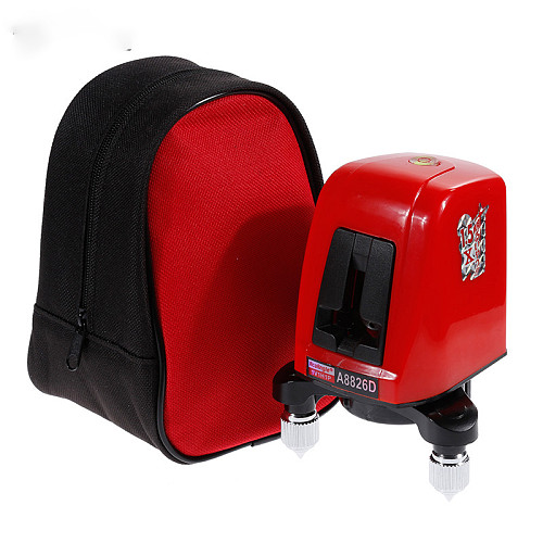 360 degree self-leveling Portable mini Cross Red Laser Levels Meter 2 line 1 point 635nm Leveling Instrument +Tripod