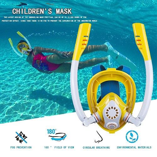 New Children Diving Mask Scuba Underwater Anti Fog Full Face Snorkeling Mask Boys Girls Kids Swimming Snorkel Diving Equipment