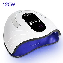 120W Newest High Power Gel Lamp 42 LED UV Lamps Fast Curing Nail Dryer With Big Room and Timer Smart Sensor Nail Tools