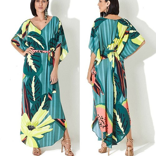 2020 Beach Cover Up Women Swimsuit Kaftan Beach Beach Dress Tunic Bikini Cover Up Pareo Sarong Beachwear Bathing Suit