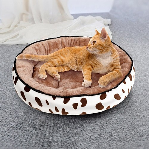 Winter Warm Cat Dog Sleeping Bed House Cats Soft Plush Puppy Nest Cushion Pet Bed Mat For Small Medium Big Dogs