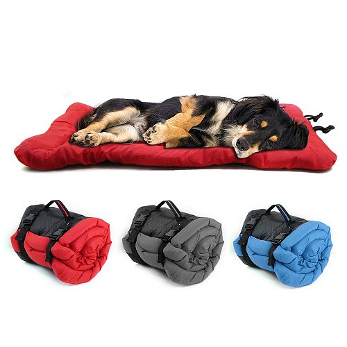 Dog Bed Blanket Portable Dog Cushion Mat Waterproof Outdoor Kennel Foldable Pet Beds Couch For Small Large Dogs