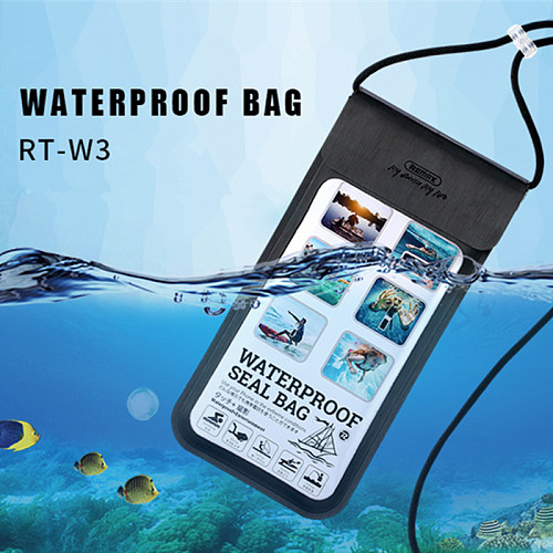 Remax 30m Waterproof Bag Phone Pouch Cover Mobile Case Beach Outdoor Swimming Pool Snorkeling Bag for 5.0-6.0 inch Mobile Phone