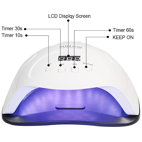 UV LED Lamp For Nails Dryer Sun Light Lamp For Manicure 84/120W/54W/24W Smart LCD Display For All Gel Nail Polish Nail Art Tools